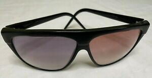 Vintage Laura Biagiotti LB Black Square Sunglasses 1980's Made in Italy