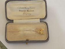 Vintage 15ct Ruby del ojo Fox Head pin de palo/Corbata Pin artículo A6014
