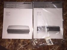 New Sealed Bose Lifestyle 18/28 Series II and DVD Owners Manuals User Guides