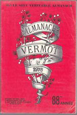 ALMANACH VERMOT 1978  BE CADEAU ANNIVERSAIRE