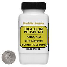 Dicalcium Phosphate [CaHPO4] 98+% USP Grade Powder 4 Oz in a Plastic Bottle USA