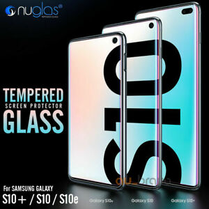 Samsung S10 Plus S10e NUGLAS 3D FULL Curved Edge Tempered Glass Screen Protector