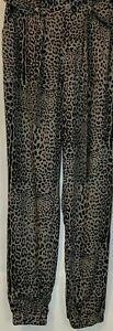 Rewash Brand So Soft Jogger Leopard Print Pants Size Large