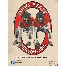 2016 Official Game Program Ohio State vs Nebraska Collectible Throwback Cover