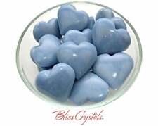 1 Small ANGELITE HEART Stone for Spiritual Healing, Healing Crystal #AH60