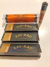 Zig Zag King Size Cigarette Rolling Paper(3 Packs)+ Zig Zag Roller & Raw Clipper