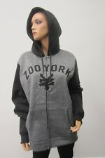 *NWOT*  Zoo York Gray Logo full zip fleece sweatshirt hoodie jacket Size L