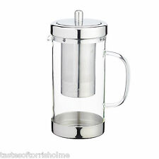 Kitchen Craft Le' Xpress Glass & Stainless Steel Loose Leaf Tea Infuser Teapot