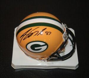 Green Bay Packers Jordy Nelson signed mini helmet #87 COA