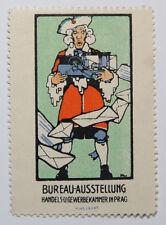 Poster Stamp Cinderella Bureau Ausstellung Gewerbekammer