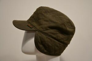 Barbour Winter Hat Cap Green Waxed England Size M