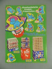 HÜTCHEN: Werbeblatt Hütchen Happy Hippos 1988 - vertreterneu!