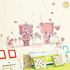 Couple bear wall stickers children-room decor baby shower adhesive for kids r Ea