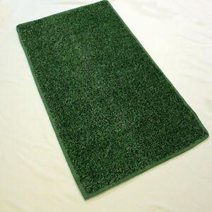 Green Black Indoor Outdoor Economy Turf Artificial Grass Area Rug Custom Cut