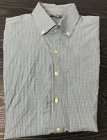 Peter Millar XL Summer Comfort Men's Checkered Long Sleeve Button Down Shirt