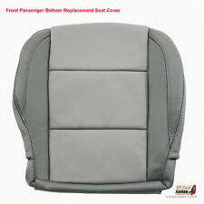 2005 2006 PASSENGER Side Bottom LEATHER Seat Cover For Nissan Titan 2-TONE GRAY