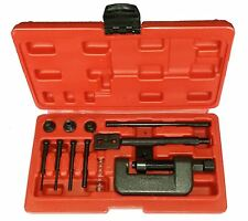 MOTORCYCLE BIKE CHAIN BREAKER SPLITTER RIVETING TOOL HEAVY DUTY RIVET REPAIR SET