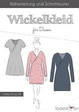Schnittmuster Fadenkäfer Wickelkleid für Damen Gr.32 bis 58 Papierschnittmuster