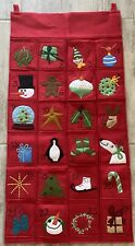"""Hable Construction Christmas Pocket Gifts Hanging Calendar 19.5"""" X 40"""""""