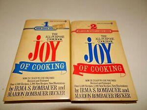 Joy Of Cooking All Purpose Vol 1 & 2 PB Books Irma Rombauer Marion Becker 1974