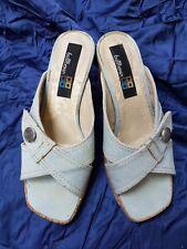 "UK3 Euro 36 BULLBOXER Summer Fashion Denim Sandals Platform Shoes 3+1"" Heels"