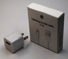 Genuine Original Apple Lightning to USB Adapter& Wall plug in for iPhone 6,7,8,X