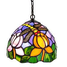 lampadario in stile Tiffany metallo e vetro colorato  mod.YDL007