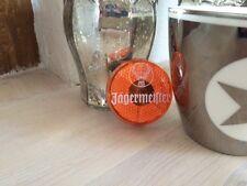 Jägermeister Blinklicht Katzenauge *Größe ca. 5 cm Durchmesser* orange Clip
