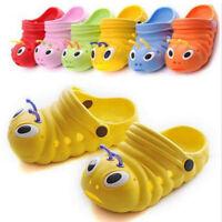 Girls Boys Toddler Kids Croc Style Sandals Slippers Beach Caterpillar Shoes Size