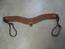 Used horse tack Steer jerking breast collar saddle oiled leather