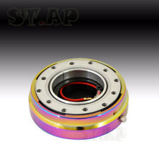 """For 6-Hole Hub Steering Wheel 1.5"""" Shorter Quick Release Adaptor Kit Neo Chrome"""