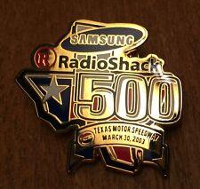 2003 Nascar Texas Motor Speedway Samsung Radio Shack 500 Lapel Pin ~ Racing