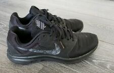 Mens Womens triple black nike downshifter 7 trainers size 6 EU 40 school shoes