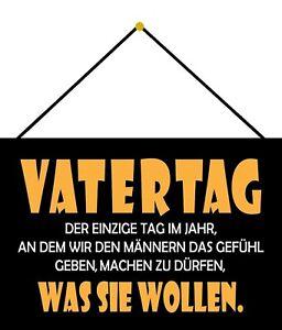 Vatertag Blechschild Schild mit Kordel Metal Tin Sign 20 x 30 cm FA1539-K