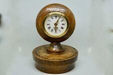 Vintage Mercedes wood hood ornament clock, rare!
