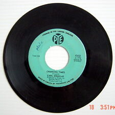 ONE 45 R.P.M. RECORD, CARL DOUGLAS, DANCE THE KUNG FU + CHANGING TIMES