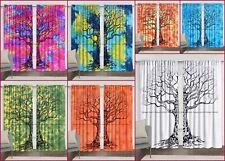 Indian tree of life drapes hanging cotton mandala window door single curtain set