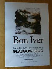 Bon Iver - Glasgow nov.2012 tour concert gig poster