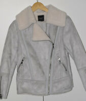 BNWT womans Size 6 UK  New Look, coat zip, WOOL,  SUEDETTE EFFECT RRP £44.99