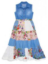 Vestidos de niña de 2 a 16 años multicolores sin mangas