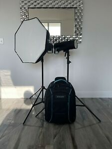 Broncolor Siros 800 L Battery Powered (2) Monolight Kit with Softbox and Trolley