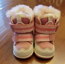 Timberland Winter Boots Girl Size 0 Leather Infant Shoe Pink Super Cute!