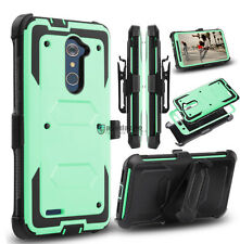 Hybrid Hard Phone Case Holster 360° Belt Clip Cover For ZTE Zmax Pro/Blade X Max