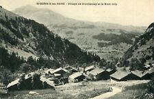 Card saint gervais les bains Bionnassay village and mount joly