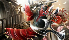 131 League of Legend Zed CUSTOM PLAYMAT ANIME PLAYMAT FREE SHIPPING