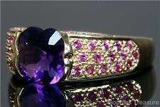 Amethyst Yellow Gold 18k Fine Rings
