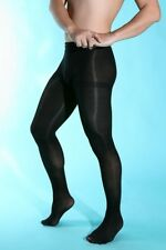 Men Velvet 80D Sexy Pantyhose Elastic Stockings & Crotch Easy Open Underwear