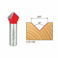 Freud 20-108 3/4-inch (Dia.) V Grooving Bit with 1/2-inch Shank
