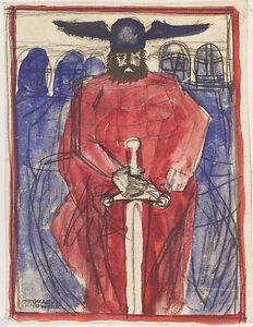 """Ottokar von Landwehr (b.1905), """"Nibelungen"""" (Poster Project)"""", Watercolor, 1920s"""