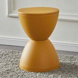 Hourglass Small Plastic Stool Creative Solid Color Apartment Round Bedside Table